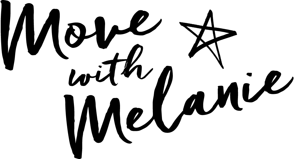 Logo   move with melanie   black